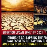食糧供給を崩壊させる旱魃、青空都市を崩壊させる無法地帯、アメリカは第三世界のカオスへと突入していく Mike Adams