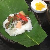土日限定 初夏の味「朴葉寿司定食」