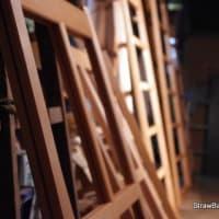 木製建具への柿渋塗り