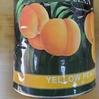 南アフリカ産黄桃2つ割り内容総量3kg