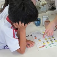 7月4日 朝日小学校で、日本茶教室