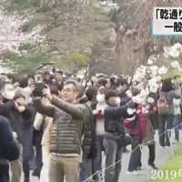 「乾通り」一般公開・『平成』最後の皇居の桜・長蛇の列 2019年03月30日