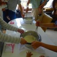 子育て支援のアイス作り体験