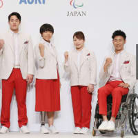 日本選手団のユニホームが