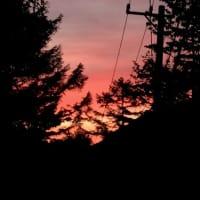 信州の夕日は赤が違う