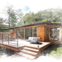 設計とデザインの感度で変化する暮らしの空間、庭のある暮らし、屋外スペースでの暮らしの時間を贅沢に味わうように、アウトドア家具の充実でウッドデッキをアウトドアLDKに。