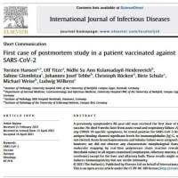 SARS-CoV-2のワクチン接種を受けた患者に死後調査を行った初めてのケース Torsten Hansen et al
