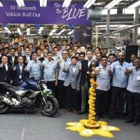ヤマハ、インドで二輪生産が累計1千万台突破!