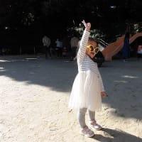 ベルナデッタクラス 運動会ごっこ遊び(玉運び・玉入れ・かけっこ)外遊び