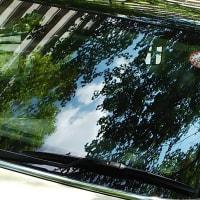 夫の車の「映り込みの空」 by 空倶楽部