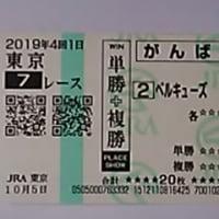 2019年10月5日(土) 東京競馬場 <ベルキューズで口取り>