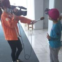 孫と一緒に中根東里センセに会いに行っていた そしたら孫が地元テレビのインタビューを受けてしまった(笑)