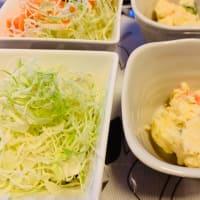 トマトパスタとフィッシュフライの夕食