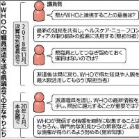 県職員をWHOに派遣して、コネが出来て、その代金1億円なり ~ちと高くありませんか黒岩知事さん?~