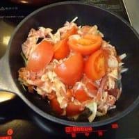 monakaのお料理教室 もう少しだと思う  豚バラトマト蒸し