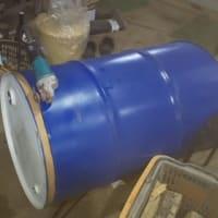 ドラム缶炭焼きカマを作ります