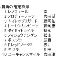 阪神大賞典の確定枠順