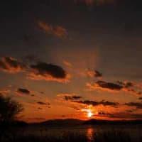琵琶湖 湖北夕景