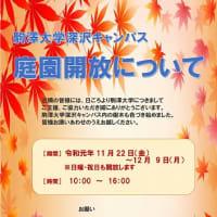 2019年秋の庭園開放【駒澤大学 深沢キャンパス】