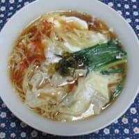 おうちランチ・ワンタン麺&メダカさん