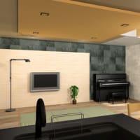 (仮称)暮らしのシーンに和モダンのエスプリが集う格子の家新築計画設計デザイン・LDKと使い勝手、フレキシブルな空間で過ごす時間と質、空間を仕切る要素のデザインは天井と光のデザイン印象