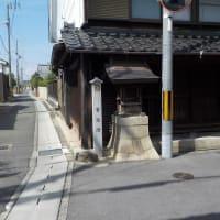 【常夜灯巡り】第6回・金屋3丁目1番地先の角の津島神社常夜燈