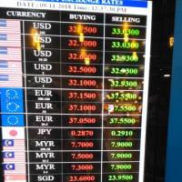 ミャンマーの通貨交換レート