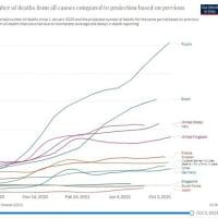 各国の超過死亡累計からみた真のコロナ被害