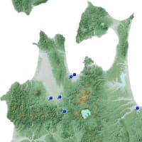 「日本製」マップ 青森県~2010年東北新幹線CMロケ地を重ねて