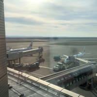 北の大地・早朝の空港ホテル