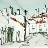 1958. アライオロス城の見える町角