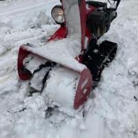 除雪機詰まる湿った雪。