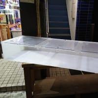 中古1500×450×250アクリル4面ホワイトオーバーフロー水槽