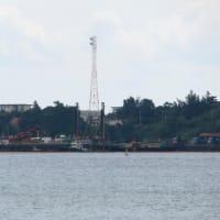 通常の体制に戻った海上作業、埋め立て工事に抗議を