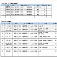 〔お知らせ〕JBA公認コーチ講習会・研修会 計画表(5月13日版)