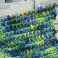 ど素人ながら、なんとか編み物