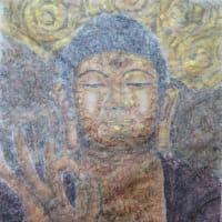 楽描き水彩画「岐阜大仏を描きました」
