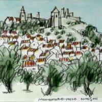 1844. モンテモール・オ・ノーヴォ城とオリーヴ園