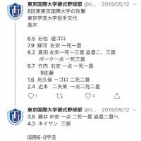 [TIU野球部]平成31年 令和1年 春季リーグ戦 総括