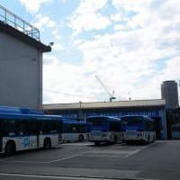 カリタス小学校がチャーターした川崎市バスで登校