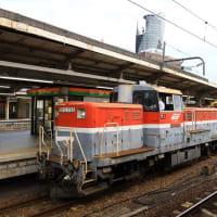 DE10+キヤ97 8661レ 名古屋駅入線 (2019年10月)