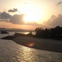 古宇利島の夕日2