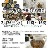 2/26ハーブティーを楽しむお茶会