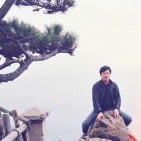 【昔の写真から 11】 桂浜にて(1985年3月卒業旅行6 )
