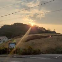 世界遺産 古市古墳群に沈む夕陽