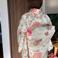 令和元年11月11日出張着付は1件目は堺市中区 小紋の着付け依頼でした。