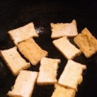 厚揚げのステーキうるめサーディンソース
