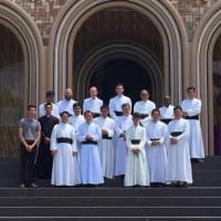 ティシエ・ド・マルレ司教様、フィリピンのイロイロにある聖ベルナルド修練院にて