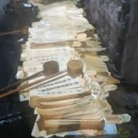 本日は法楽寺へ経木流しに。私が山門から出た時点で山門にはカンヌキが。おみくじは41番末吉。8月18日のお施餓鬼会の受付も済ませました。