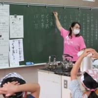 7月9日 御殿場南小学校で、日本茶教室